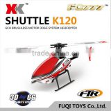 XK china factory design 6CH 3D 6G system rc helicopter toys in long distance with brushless motor