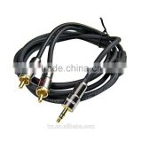 HIFI Choseal Q-565A Gold Plated 3.5mm 1.8m/3m/5m/10m/15m/ Male Stereo Plug to 2 RCA cable