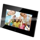 new style digital photo frame with china sex video with shine piano ABS frame