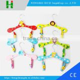 Colorful clothes hanger for baby and Kids&Children pants/cartoon wooden hanger