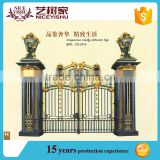 Aluminum metal sliding garden gate for villas, house steel gate design, main gate colors