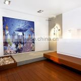 JY-JH-OC04 Popular mosaic design Underwater World glass mural Summer indoor decoration materials