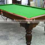 Modern design solid wood leg snooker table 30mm slate playfield snooker pool table