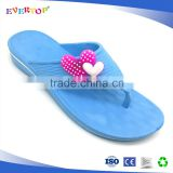Unisex flip flops with high quality comfortable flip flops pe sole sheet personalized house slippers