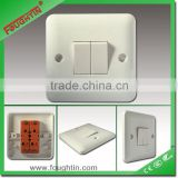2 gang 1 way switch whole white bakelite insulating material wall switch