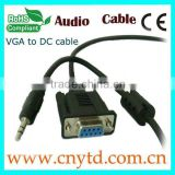 hot sell vga vga to db25 cable to dc power cable