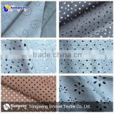 punched suede fabric/fabric with punch hole/polyester fabric hole punch for shoes/garment/sofa/home textile/decorate