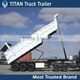 Heavy duty end dump semi trailers , hydraulic tipper semi trailer , hydraulic dump trailer