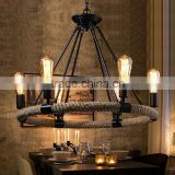 Personalized American country antique chandelier 6 8 rope light restaurant dining room chandelier