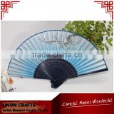 Chinese cheap silk hand folding bamboo fan for Japanese