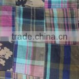 Madras Check Patchwork handmade pure fabrics For Carpet