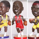 Shake head plastic bobblehead figurine,6inch plastic figure bobblehead,pvc 3D bobblehead basketball figure for colletion
