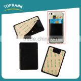 Toprank New Design RFID Protective Leather Pu Card Holder 3M Adhesive Cell Phone Case Sticker Credit Card Holder