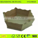 custom decorative wooden hexagon tray wholesale