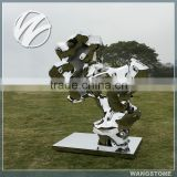Modern stainless steel garden abstract metal sculpture