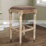 Bar Stool Sweden Natural Teak Wood
