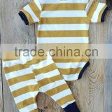 Boutique baby romper 2 pieces yellow and white stripe romper and shorts unique baby boy names images