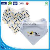 Alibaba china cute baby gift applique cotton custom absorbent dribbler wholesale bandana baby bibs
