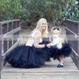 Tulle Mother Daughter Clothing New Design Ladys Frock Tutu Dresses Kids Mom And Daughter Dress Matching