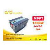 50A MPPT Solar Inverter Single Phase DC AC 1500w Pure Sine Wave Inverter Without Battery