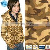 100% Cotton Towels Fleece Camouflage Print French Terry Knit Fabric Sweatshirt Fabric for Clothes,Sportwear,Jacket