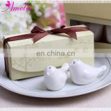 Wedding Guest Souvenirs Ceramic Love Birds Salt and Pepper Shaker Giveaways Favors Party Supplies Creative Gifts