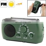 Dynamo / Solar Powered AM / FM Radio with Flashlight