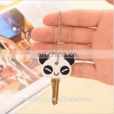 cute panda customized 3d soft pvc key holder,rubber key cover,plastic key cap with own logo and shape