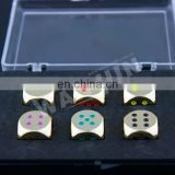 custom printed dice ,Sedex 4p custom blank engraver bulk game metal dice manufacturer(d-1)