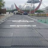 Durable HDPE polyethylene temporary road mats hdpe plastic ground protection matfloor