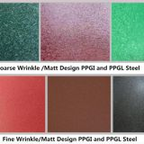 Matt Wrinkle surface prepainted galvanized steel coils from China factory