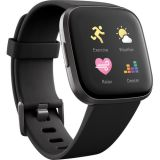 Fitbit Versa 2 Health & Fitness Smartwatch (Black / Carbon Aluminum) Price 30usd