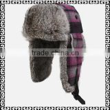 2015 Hot Selling Wholesale Winter Hat Russian /Leifeng style handmade Genuine rabbit fur hat
