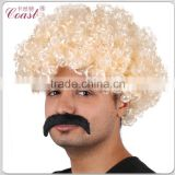 afro kinky human hair wig party wig afro for black men