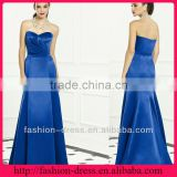 2013 New Strapless Empire A-line Royal Blue Satin Bridesmaid Dress