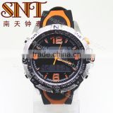 Analog digital watch with Japan PC 21 and LCD double movement watch