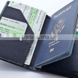 Hot new products for 2015 Nice Design Brown Leather Travel Passport Holder China Supplier