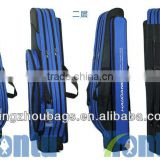 blue color backpack fishing tackle bag with 3 compartment