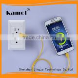 best quality smart app female unique design USA market wall socket with usb port for show room 220v gfci receptacle