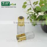 essential oil use transparent 20/30ml glass bottle with gold plating dropper round glass bottle