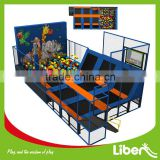 Foam Pit Climbing Wall Used Animal Indoor Playground Type Trampoline Good Price Jumping Indoor Trampoline Park