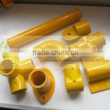 chemical resistant FRP fiberglass round guardrail fence, frp handrail for chemical plant, water treatment