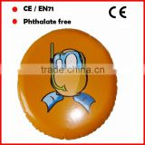 EN71 and phthalate free pvc promotional inflatable frisbee flying disc for kids with logo printed