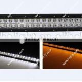 "2014 hot product double color amber and white 240W LED light bar,41.5"" led work light bar"