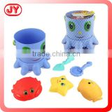 2015 newest shantou toys plastic beach bucket toy with sand molds EN71