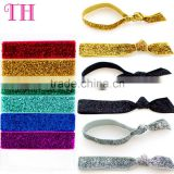 low price plain glitter foe stocked colors child elastic hair tie bracelet                                                                         Quality Choice