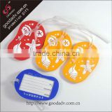 Soft pvc new arrival well-designed luggage tag machine / luggage tags wedding favor