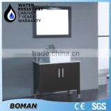 floor mounted brown oak solid wood european modern bathroom vanity