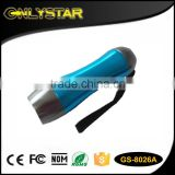 Onlystar GS-8026A lifeforce handheld flashlight great mini portable light aluminum 9 led torch light