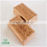 2016 newly good strength Natural Bamboo Jewelry Box with Carvings